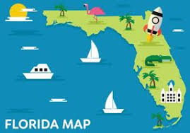 Cartoon Map Of Florida State - Download Free Vectors, Clipart ...