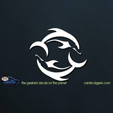 Dolphins Yin Yang Car Window Decal Sticker