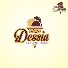 desain logo desain logo produk dessert es krim de