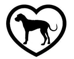 Great Dane Heart Vinyl Decal Sticker Dog Breed Choose Color Size Ebay