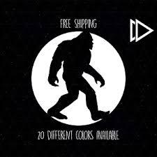 Sasquatch Walking Circle Vinyl Decal Sticker Car Laptop Big Foot Yeti Funny Ebay