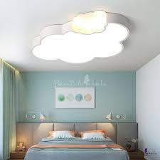 Quique Acrylic Kids Room Led Ceiling Lamp Cloud Shape Study Room Kids Kids Bedroom Lights Kids Ceiling Lights