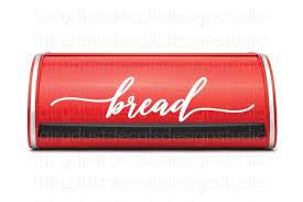 Bread Box Decal Handwritten Style Letter Vinyl Label For Kitchen Pantry Bread Storage