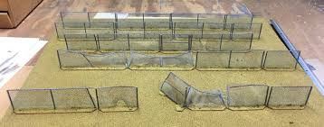 Irishserb S Miniatures Adventure Post Apoc Chain Link Fence For 28mm