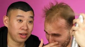 balding men try spray on hair you