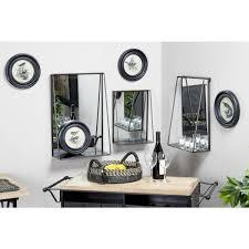 rectangular black wall mirror