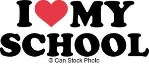 I love my school Clip Art and Stock Illustrations. 88 I love my ...