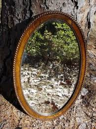 rope trim frame oval wall mirror
