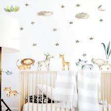 Amazon Com Safari Animals Baby Animals Decals Jungle Friends Wall Decals Baby Room Decals Nursery Art Decor Baby Animals Lion Zebra Elephant Rhino Giraffe Handmade