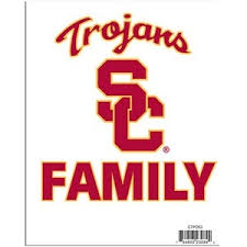 University Of Southern California Usc Trojans Team Family Pride Decal At Sticker Shoppe