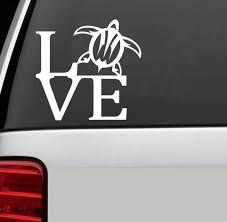 Love Sea Turtle Window Decal Sticker Custom Sticker Shop