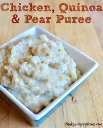 en quinoa pear baby food puree