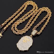 ape head necklace mens gold necklace