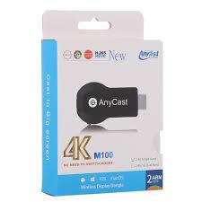 Thiết Bị Kết Nối HDMI Không Dây Anycast M100 Chất Lượng 4K - Hàng nhập khẩu  - Cáp HDMI - Displayport