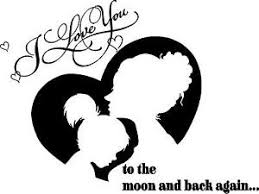 I Love You To The Moon And Back Mom Girl Silhouette Vinyl Wall Decal Ebay