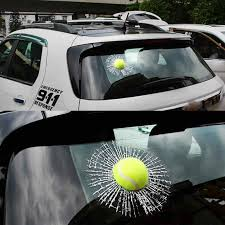 3d Spoof Window Sticker Smashed Crack Tennis Baseball Decal Broken Window Joke Prank Decorative Films Aliexpress