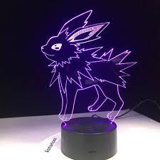 Pokemon Đi Mimikyu Ho Oh Purrloin Magikarp Raikou Rayquaza Prinplup  Politoed lugia Phim Hoạt Hình 3D Đèn 7 Màu LED Trang Trí Nội Thất ánh Sáng  ban đêm|