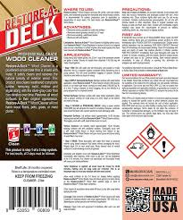 Restore A Deck Cleaner Combo Kit Armstrong Clark Stain 5 Gallon