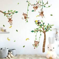 Jungle Wall Decals Nz Animal Nursery Etsy Art Theme For Australia Leaves Book Large Vamosrayos