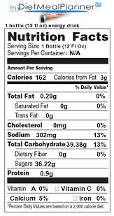 nutrition facts label beverages 1