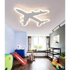 Modern Chandeliers Kids Room Aircraft Ceiling Lamp Simple Creative Child Bedroom Cartoon Illumination Light Acrylic Chandelier Lighting Fixture With Remote Walmart Com Walmart Com