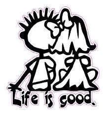 Life Is Good Decal Nostalgia Decals Retro Vinyl Stickers Nostalgia Decals Online