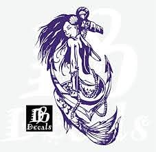 Amazon Com Mermaid Sexy Girl Fish Tail Skull Boat Anchor Fantasy Beach Fishing Sailor Sea Ocean Car Truck Sailor Window Laptop Vinyl Decal Sticker Handmade