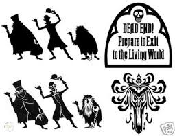 Haunted Mansion 4 Sticker Lot Vinyl Decal Car Decal 42055891