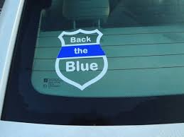 2 Police Window Decals Decal Support Our Blue Lives Matter Etsy