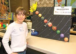 fourth graders build solar system