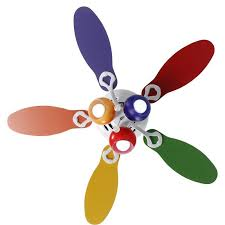 color ceiling fan for childrens room