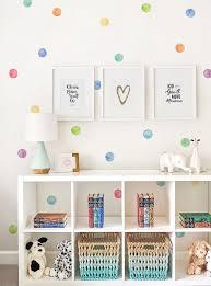 Dreamarts Watercolor Dots Wall Stickers Rainbow Irregular Shaped Polka Dots Peel And Stick Wall Decals Kids Room Decor Wall Stickers Aliexpress
