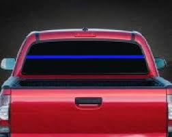 Thin Blue Line Rear Window Decal Sticker Midwest Sticker Shop