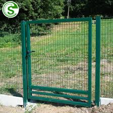 China 6ft Industrial Factory Metal Wire Fencing Panels With Security Sliding Gate China Sliding Gate Pedestrian Gate