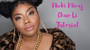 nicki minaj chun li inspired makeup