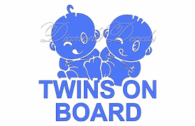 Twins On Board Baby On Board Car Decal Boy And Girl Baby On Board Car Decal Boy And Girl Twins On Board Decal Colour Options Available