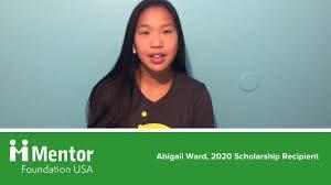 Abigail Ward - 2020 Scholarship Recipient - YouTube