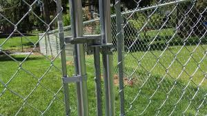 How To Use Adjust A Chain Link Gate Latch Chain Link Fence Gate Chain Link Fence Black Chain Link Fence