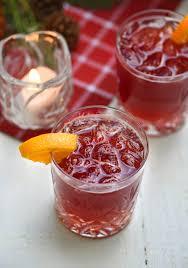 sparkling pomegranate vodka punch