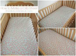 how to make a crib sheet the ribbon