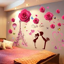 3d Stereo Wall Sticker Stickers Bedroom Wall Background Decoration Wall Flower Bedside Wall Decal Wall Painting
