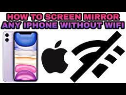 stream iphone or ipad without wifi
