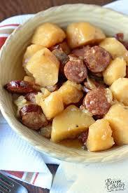 crockpot sausage potatoes diary of
