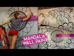 Mandala Wall Art No Stencils Youtube