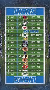 Updated 2019 Lions Schedule Wallpaper ...