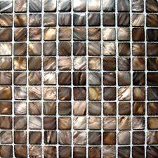 brown mosaic tile backsplash