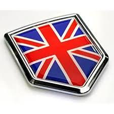 Amazon Com Car Chrome Decals Great Britain Flag British Emblem Chrome Car Decal Sticker Badge 3d England United Kingdom Cbshd250 Automotive