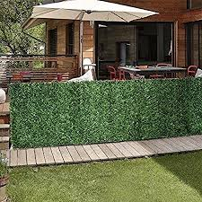 Artificial Hedge Slats Panels For Chain Link Fence Outdoor Faux Hedge Privacy Screen Fence Covers 10 Lineal Feet Of Fence 6 5x10by Porpora Amazon Ca Patio Lawn Garden