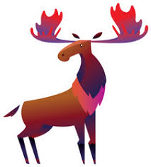 Moose Car Stickers Decals