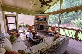 screen porch with fireplace alpharetta